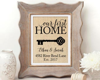 3efda140e867 Housewarming Gift Our First Home Sign First Home Gift New Home Housewarming Gift  New House Gift House Warming Gift New Home Gift Closing