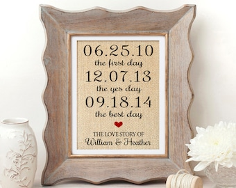 Wedding Gift First Day Yes Day Best Day Anniversary Gifts for Men Wedding Gift for Couple Bridal Shower Gift Wedding Gifts for Husband Gift