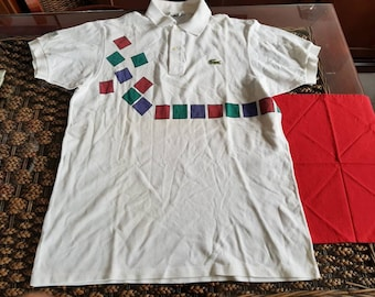 05c20ccb643679 Rare 90s lacoste GUY FORGET made in France polo