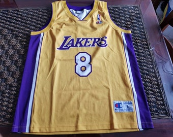 97703baa49d Vintage and rare 90s KOBE BRYANT LAKERS  8 Champion u.s.a. Jersey