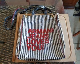 90s vintage armani jeans bag df9f1b5912