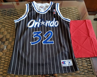 the best attitude cae4d 9bf61 Canotta vintage Nba Shaquille O Neal  32 Orlando Magic Champion MADE IN USA