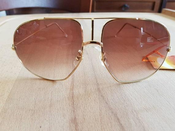80s NOS Solgir aviator made in italy sunglasses  - image 2