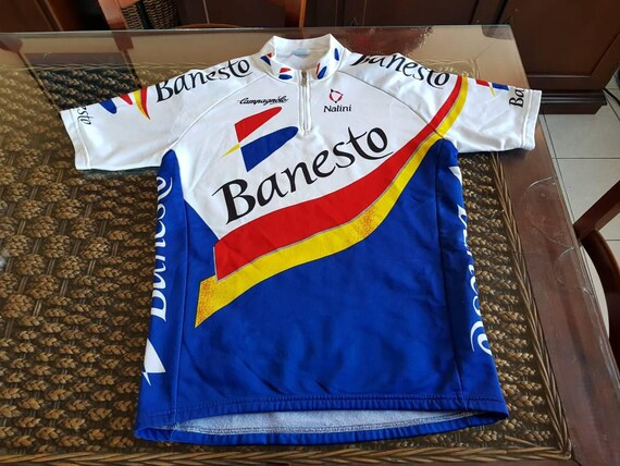 7dda5b878 Rare 90s authentic BANESTO made in italy Nalini jersey