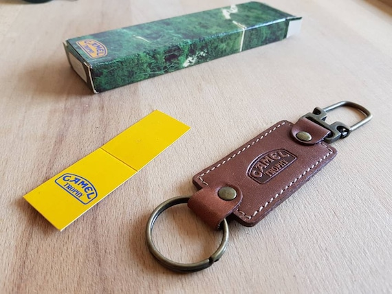 80s NOS Camel leather Keychain  58085bd50