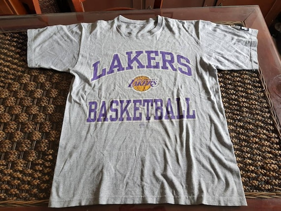 40d7c641a9fa Beautiful rare 90s Los Angeles Lakers t-shirt Starter made in