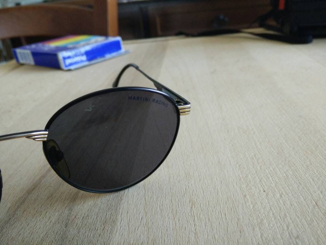 Vintage 80s MARTINI round sunglasses made in italy