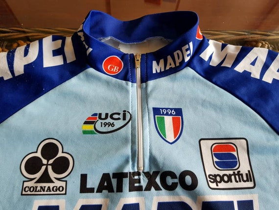 9a2accfac 90s Mapei gb latexco cycling team jersey most iconic