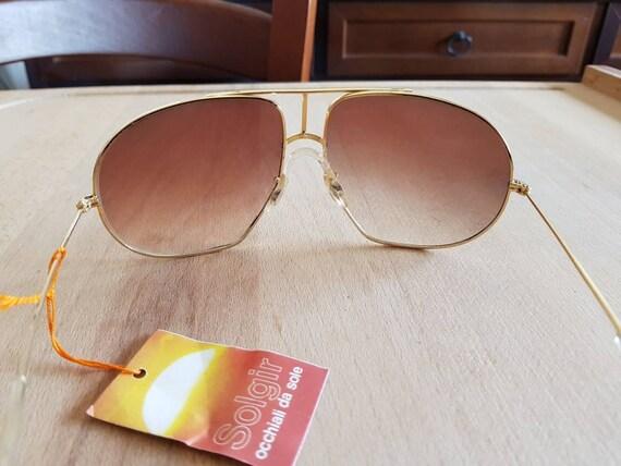 80s NOS Solgir aviator made in italy sunglasses  - image 4