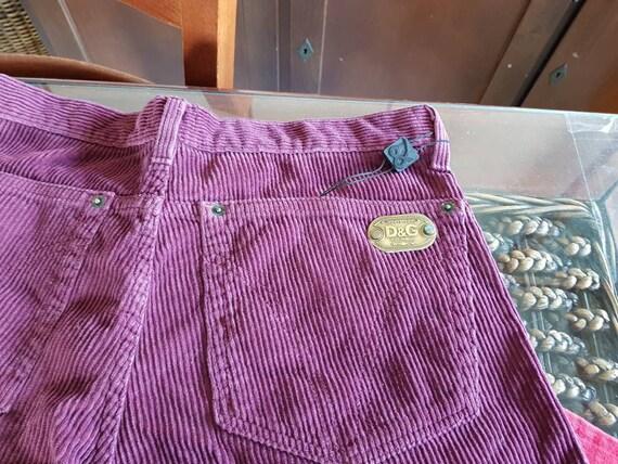 90s Dolce & gabbana velvet pants
