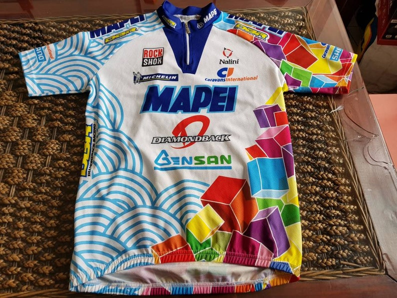 90s Mapei cycling team jacket jersey most iconic cycling team  8fc5175ae