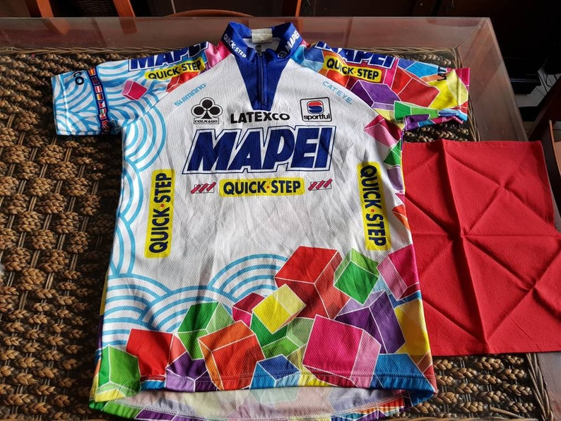 7bfc27d2e 90s Mapei quick step sportful made in italy jersey most