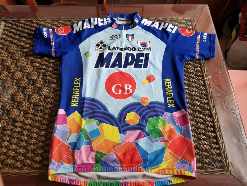 90s Mapei gb latexco cycling team jersey , most iconic cycling team ever