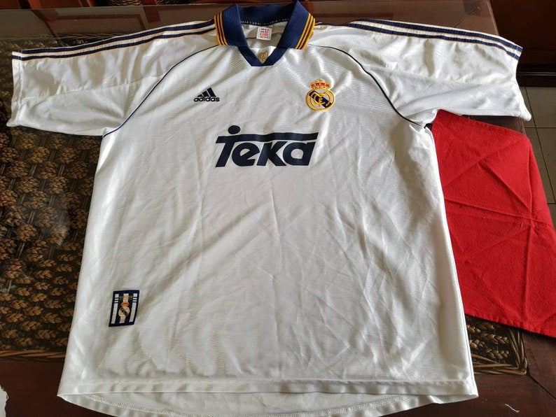 cheap for discount a7238 c6455 90s real Madrid teka adidas jersey