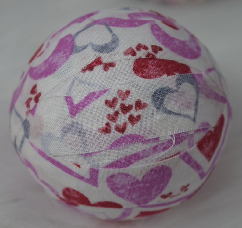 bowl fillers Valentine/'s Day Decorative Fabric Rag Balls set of 6 3 balls gifts for her
