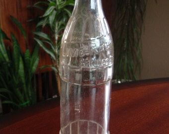 Soda Pop Bottle Lime Rock Springs Co Dubuque Iowa 12 Oz Collectible Glass C412
