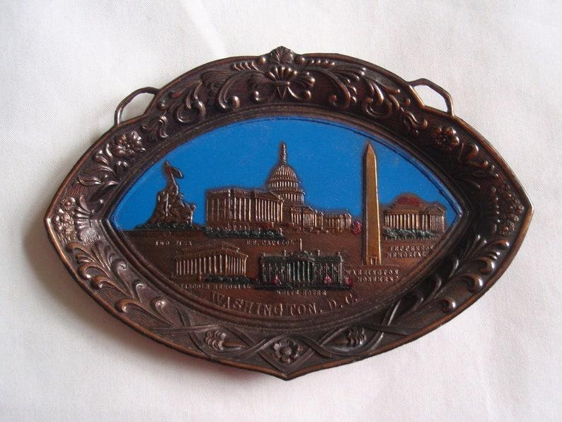 Washington DC Souvenir Plate Plaque Wall Hanging Art and Collectibles Memorabilia Souvenir e1351