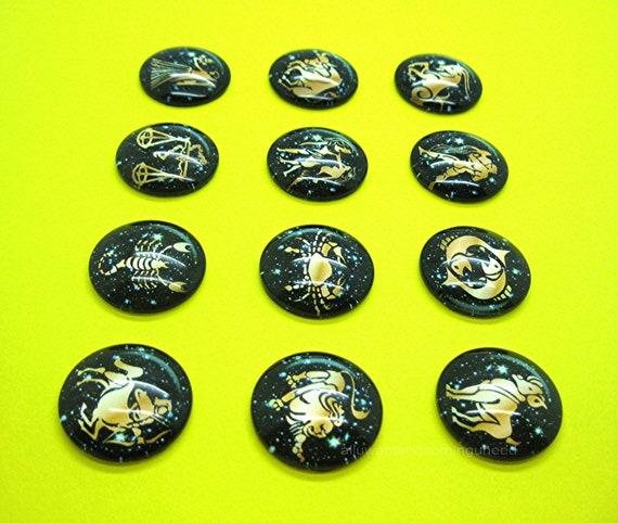 1 Inch D Pin Button Badge Leo Star Sign Zodiac Sign Astrology 25mm