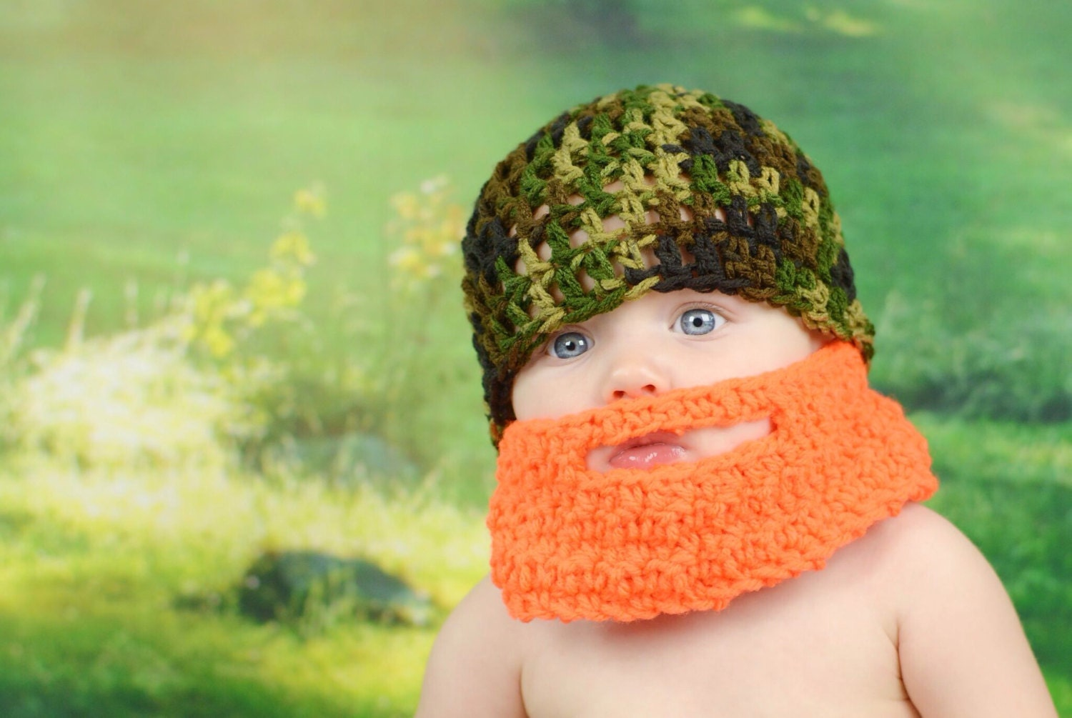 267e6a46017 Baby Beard Hat Crochet Beard Hat Hat With Beard Newborn