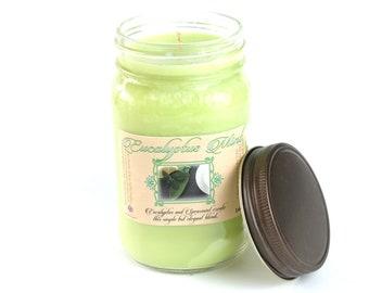 Eucalyptus Mint - Natural Soy Candle - 16 oz