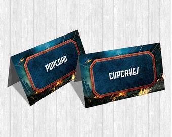 Captain America Food Labels