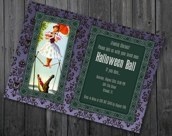 The Haunted Mansion Party Invitation