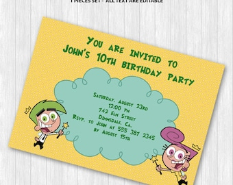 Fairly Odd Parents Invitation