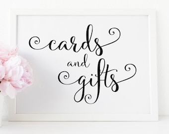 Cards and Gifts Sign. Printable Wedding Sign. Gifts and Cards Sign. Cards Sign for Wedding. Wedding Cards and Gifts Sign. Wedding Gift Sign.