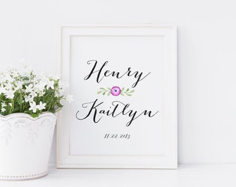 Personalized Gift for Engaged Couple. Wedding Date Gift. Wedding Gifts for Couples. Bride and Groom Gift. Custom Wedding Gift. Wedding Gift.