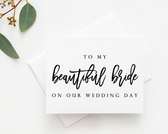 to my beautiful bride card wedding day card bride card for bride to my bride card bride card for wedding day wedding day bride card