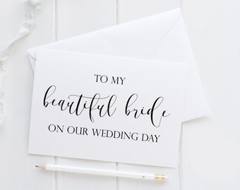 to my beautiful bride card to my bride card bride card for wedding day wedding day bride card to bride on wedding day fiance card