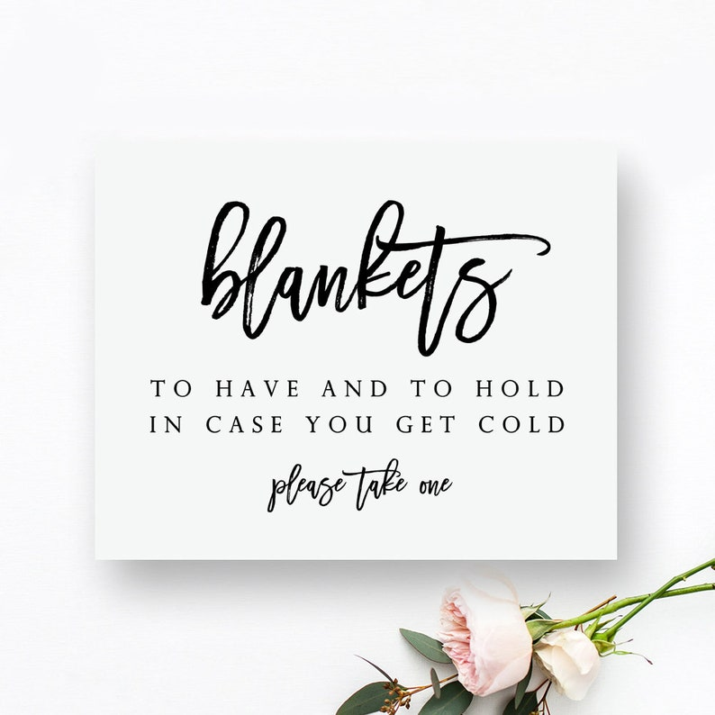 image about Wedding Signs Printable identified as Printable Blankets Indication. Out of doors Wedding ceremony Signs and symptoms. Wintertime Marriage Signs and symptoms. Drop Wedding day Signs and symptoms.
