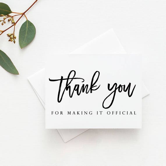 Officiant Wedding Card Officiant Card Wedding Card For Officiant Officiant Thank You Card Wedding Officiant Card Cards For Wedding