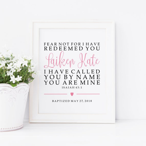 Baptism Printable Personalized Baptism Gift Baptism Quotes Etsy