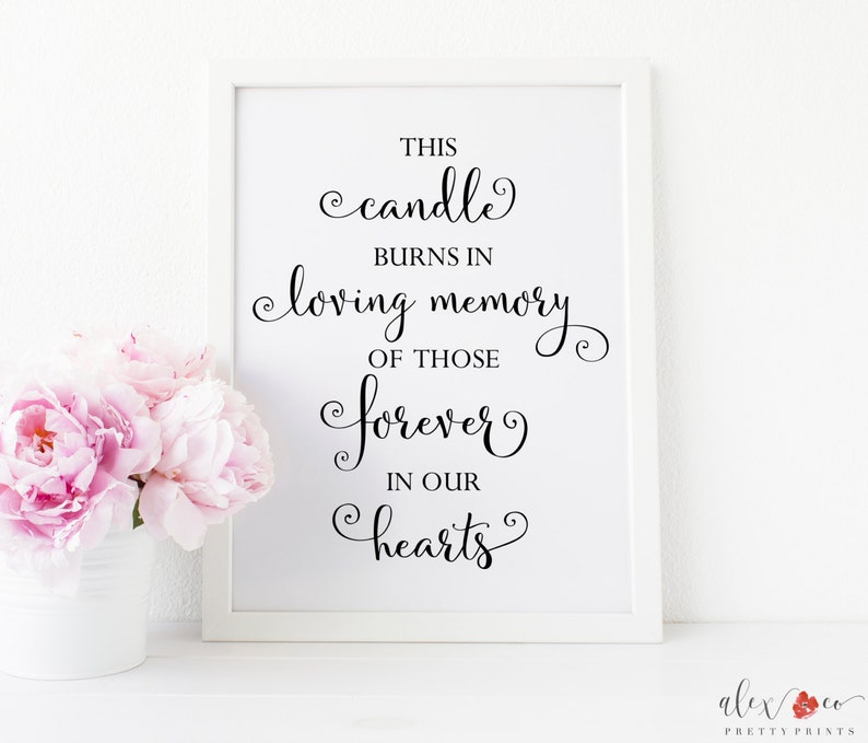 It's just a photo of Stupendous This Candle Burns in Loving Memory Free Printable