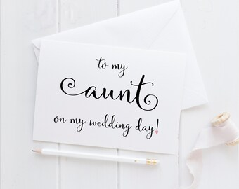 Wedding Card For Aunt. Aunt Card. To My Aunt Card. Aunt Wedding Card. Aunt Of The Bride. Aunt Of The Groom. Aunt Wedding Gift.