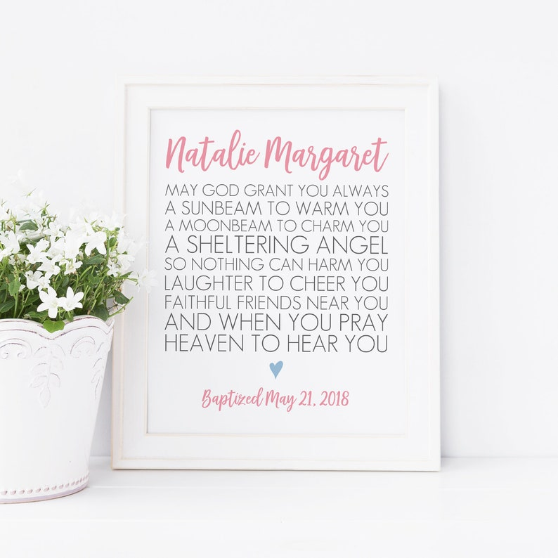 photograph relating to Printable Irish Blessing known as Irish Blessing Printable. Lady Baptism. Boy Baptism. Custom-made Baptism Present. Irish Prayer. Irish Printable. Irish Baptism. Child Reward.