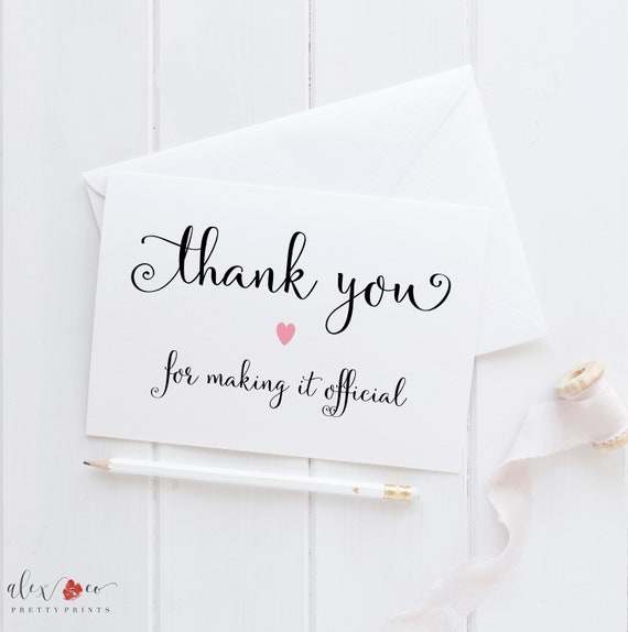 Wedding Card For Officiant Officiant Wedding Card Officiant Card Thank You Card For Officiant Officiant Thank You Card Pastor Card