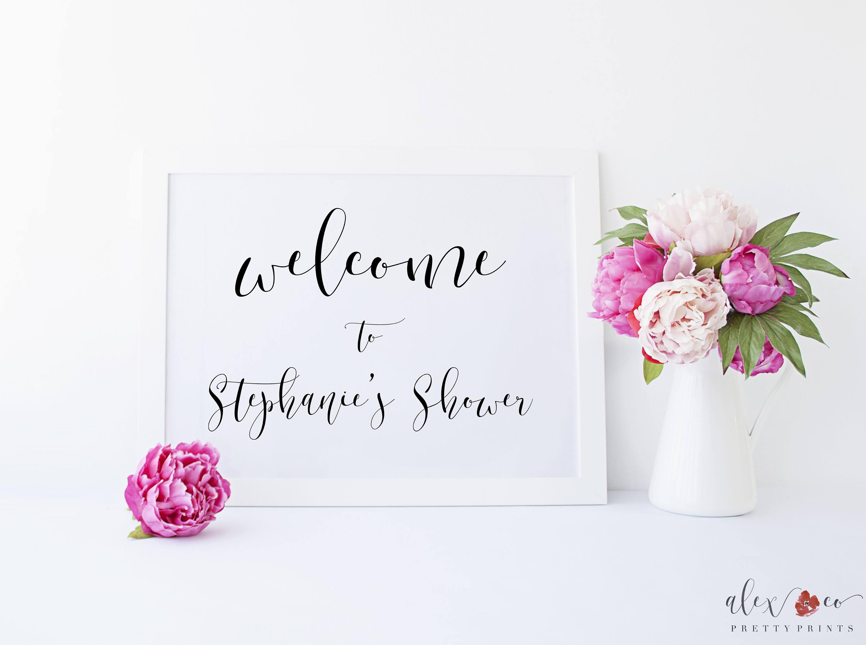 Personalized Bridal Shower Sign Bridal Shower Printable