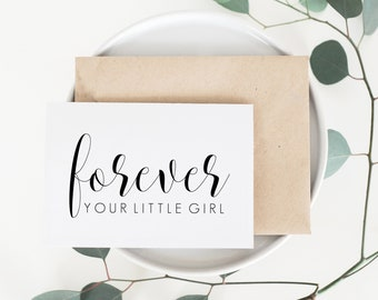 Forever Your Little Girl Card. Wedding Card For Dad. Dad Wedding Card. Dad Card. To My Dad Card. To My Dad On My Wedding Day Card.