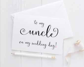 Wedding Card For Uncle. Uncle Card. To My Uncle Card. Uncle Wedding Card. Uncle Of The Bride. Uncle Of The Groom. Uncle Wedding Gift.