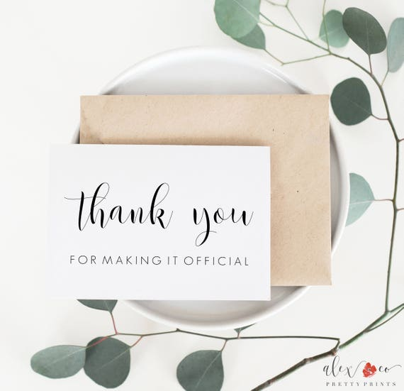 Thank You Card For Officiant Officiant Thank You Card Wedding Card For Officiant Officiant Wedding Card Officiant Card Wedding Cards