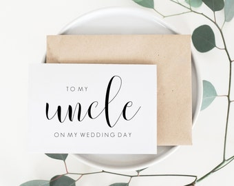 Uncle Wedding Card. Uncle Card. To My Uncle Card. Uncle Of The Bride. Uncle Of The Groom. Wedding Cards. Day Of Wedding Cards. Family Cards.