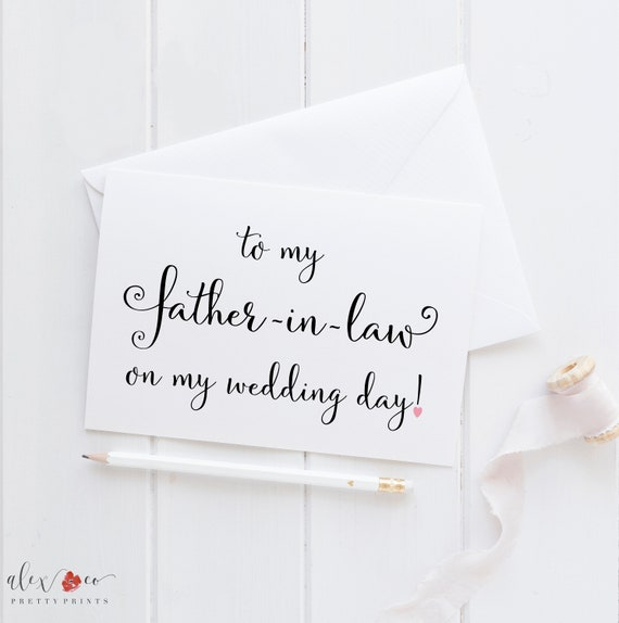 Wedding Card For Father In Law Father In Law Card To My Etsy