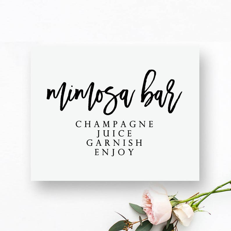 picture regarding Mimosa Bar Sign Printable titled Printable Mimosa Bar Signal. Mimosa Bar Printable. Mimosa Bar Marriage ceremony Signal. Printable Bar Indicator. Bar Printable. Bar Marriage ceremony Indication. Bar Indication.