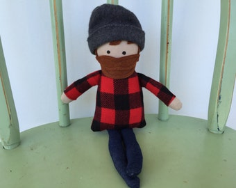 The Woodcutter, handmade  doll perfect for storytelling, Red Riding Hood Storybook Character