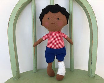 Special Needs Handmade rag doll, perfect for imaginative play!