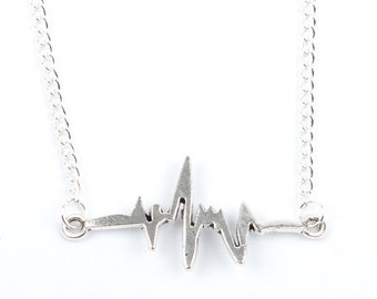 Heartbeat Necklace | Heart Rate Necklace | Beating Heart Necklace | Love Necklace | Gift Boxed