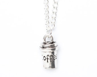 Coffee Cup Necklace | Coffee Addict Gift | Caffeine Necklace | Coffee Cup Jewellery | Coffee