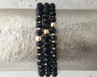 TRIO Bracelet Stack (Black)
